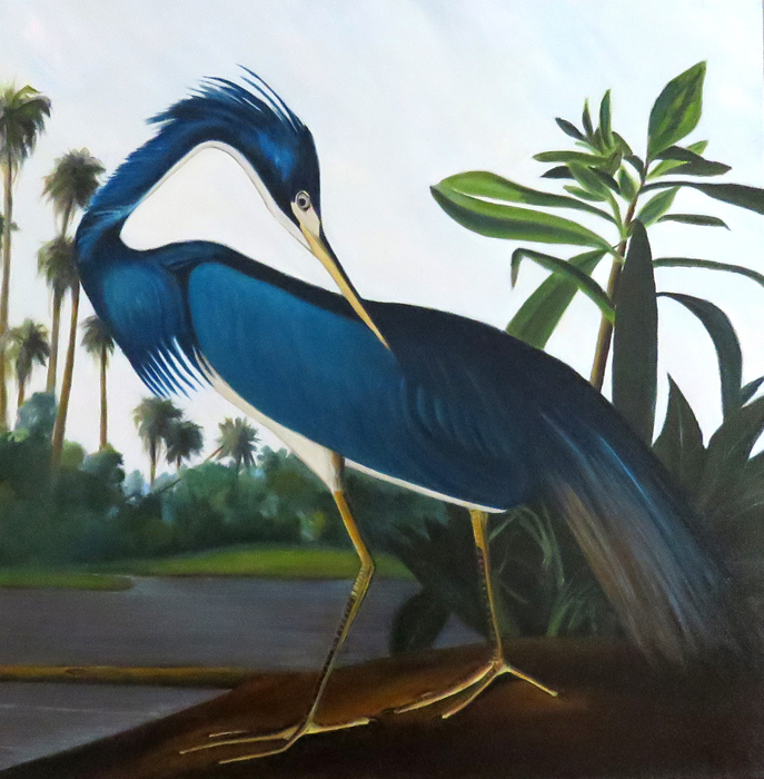 Louisiana Blue Heron - Homage to Audubon